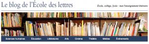 Blog de l'école des lettres
