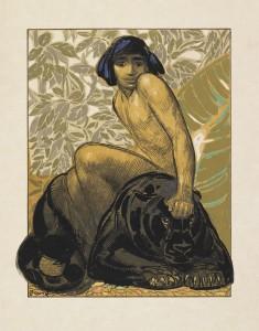 La chasse de Kaa, R.Kippling, ill. de P. Jouve, estampe,1930