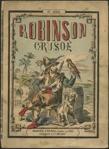 Robinson Crusoé, imagerie d'épinal, 1796