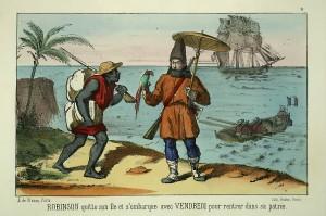 Aventures de Robinson Crusoé par Sauvageot (v.1850)